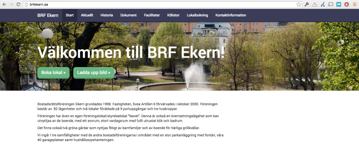 Screenshot BRF Ekern